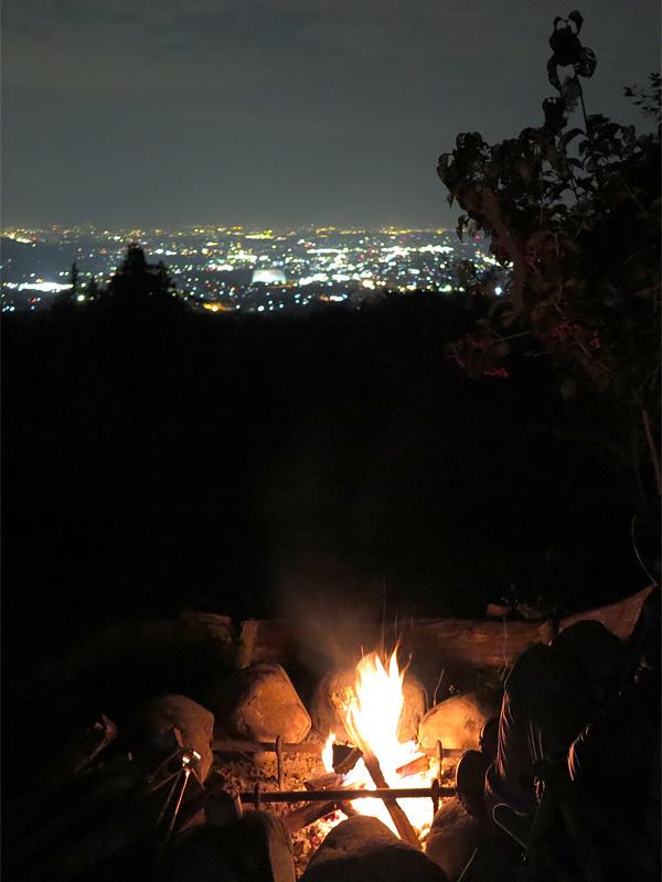 焚火&夜景