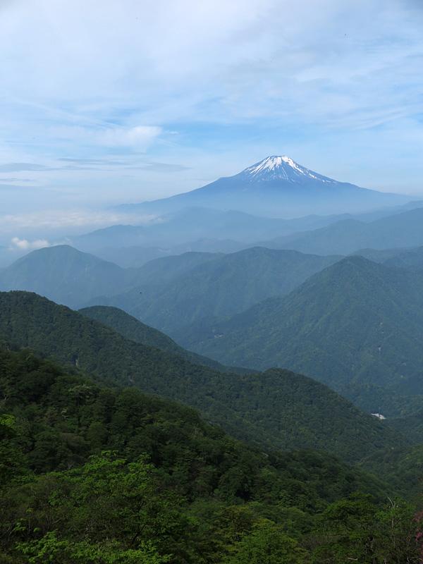 西丹沢からの富士山