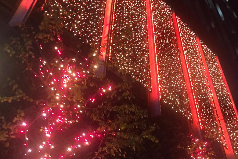 年末の六本木の街はキラキラ