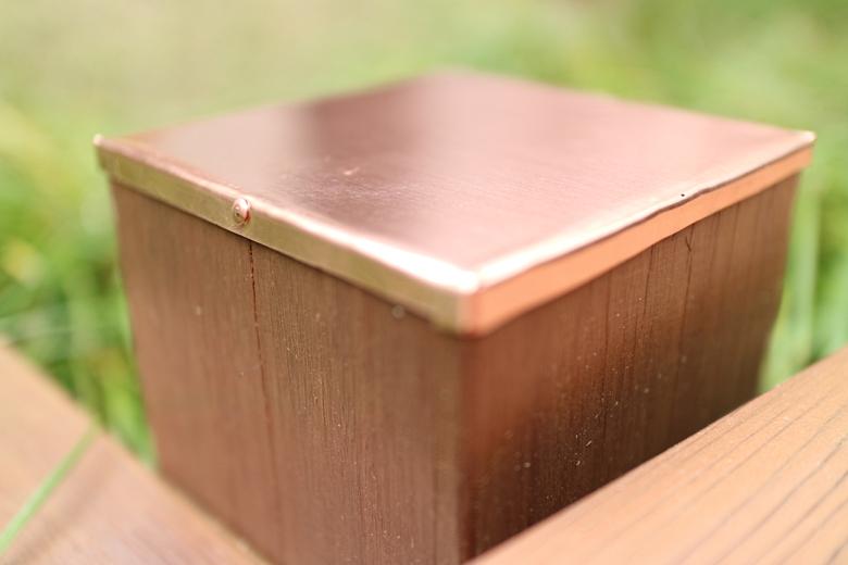 銅製ポストキャップ